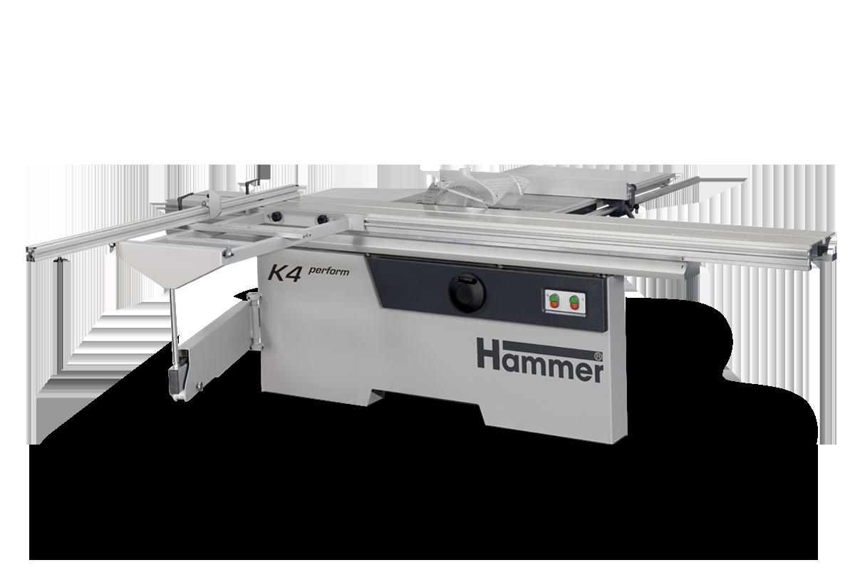 دورکن Hammer مدل K4 یک دورکن سری کارگاهی فلدر است. طول ریل آن 370 سانتی متر و از نوع X_ROLL است. این ماشین اتریشی مجهز به ریل آلومینیومی آنودایز می باشد. K4 برای تغییر زاویه تیغ اره از سیستم Easy_Glide که طراحی انحصاری فلدر است بهره می برد.
